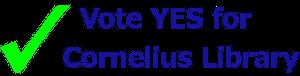 Yes for Cornelius Library logo