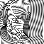 A girl's face made out of lines by John LeMasney via lemasney.com