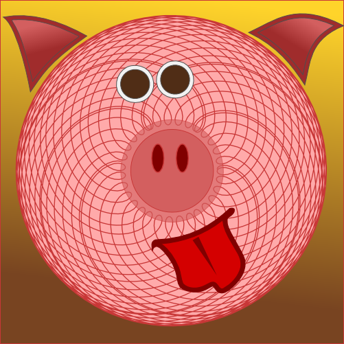 Spirograph Pig