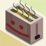 38 of 365 is an isometric toaster, serving it up hot. #Inkscape