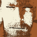 45 of 365 is a self portrait with a scowl #inkscape