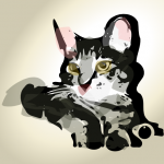 57 of 365 is a pretty kitty in #inkscape