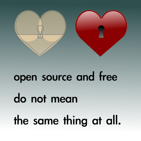 Open source and free do not mean the same thing at all cc-by lemasney