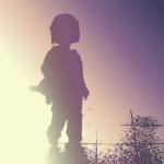 Girl silhouette in morning light cc-by lemasney