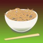 A bowl of noodles by John LeMasney via 365sketches.org #Inkscape #food #illustration
