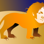 Gordon Ramsay as a lion by John LeMasney via 365sketches.org #illustration #Inkscape #creativecommons