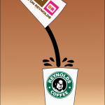 Dunkin Donuts vs. Starbucks by John LeMasney via 365sketches.org #illustration #Inkscape #cc #design