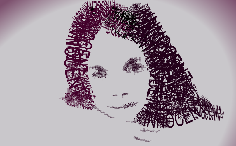 A Girl S Face Made Of Out Text By John Lemasney Via