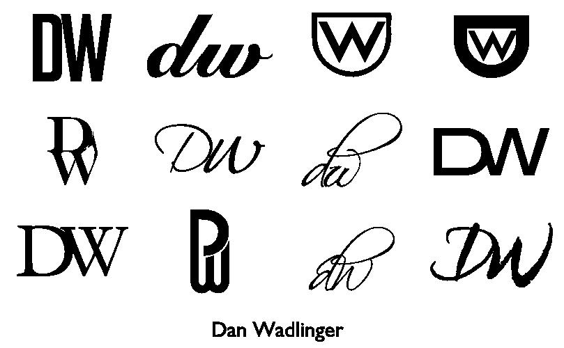 A monogram for Dan Wadlinger #cc #design #typography #inkscape #dw
