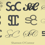 232 of 365 is a monogram set for Shannon O'Connor [typography] #Inkscape