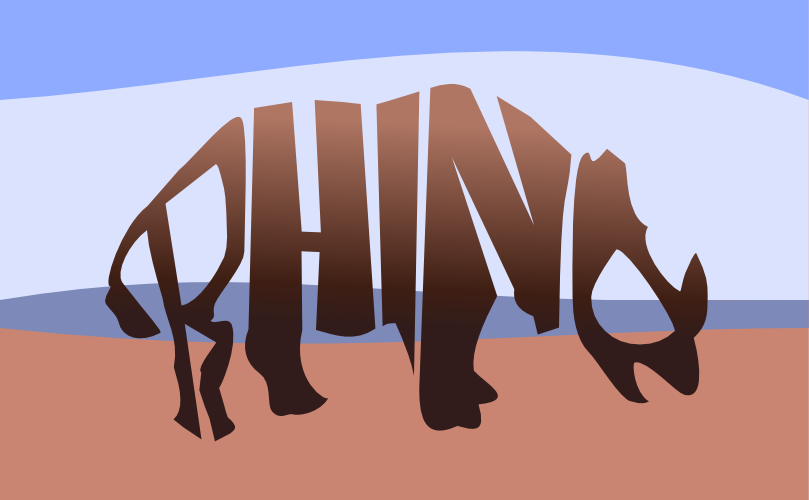 278 of 365 is a rhino made of text  design  typography