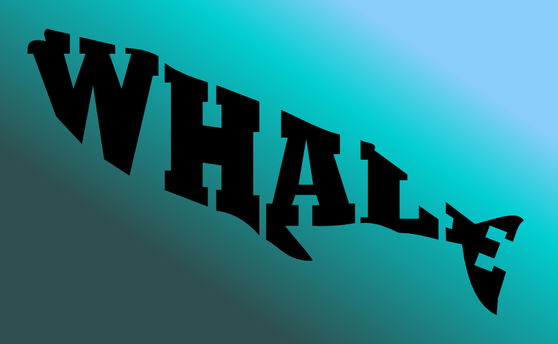 a whale made of text by john lemasney via 365sketches org