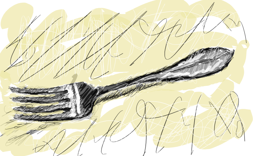 fork by john lemasney via 365sketches org  inkscape