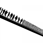 A comb made of people by John LeMasney via 365sketches.org #Inkscape #design