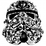 Decorative classic stormtrooper mask by John LeMasney via 365sketches.org #cc #design #art