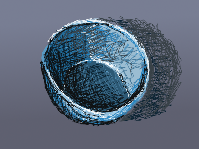 Empty bowl sketch by John LeMasney via 365sketches.org #cc #design #drawing #GIMP