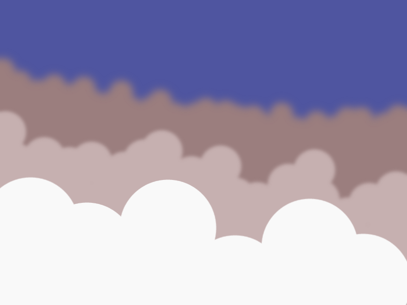 Day 210: A vector sketch of clouds by John LeMasney via 365sketches.org #drawing #creativecommons #cc-by