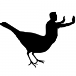 Animal bird-human hybrid experiment number 1 by John LeMasney via 365sketches.org #Inkscape #design #biodesign