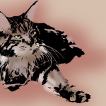 20121118: A Hemingway Cat by John LeMasney via 365sketches.org #design