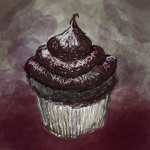 20121127: Decadent chocolate cupcake sketch by John LeMasney via 365sketches.org #cc #drawing