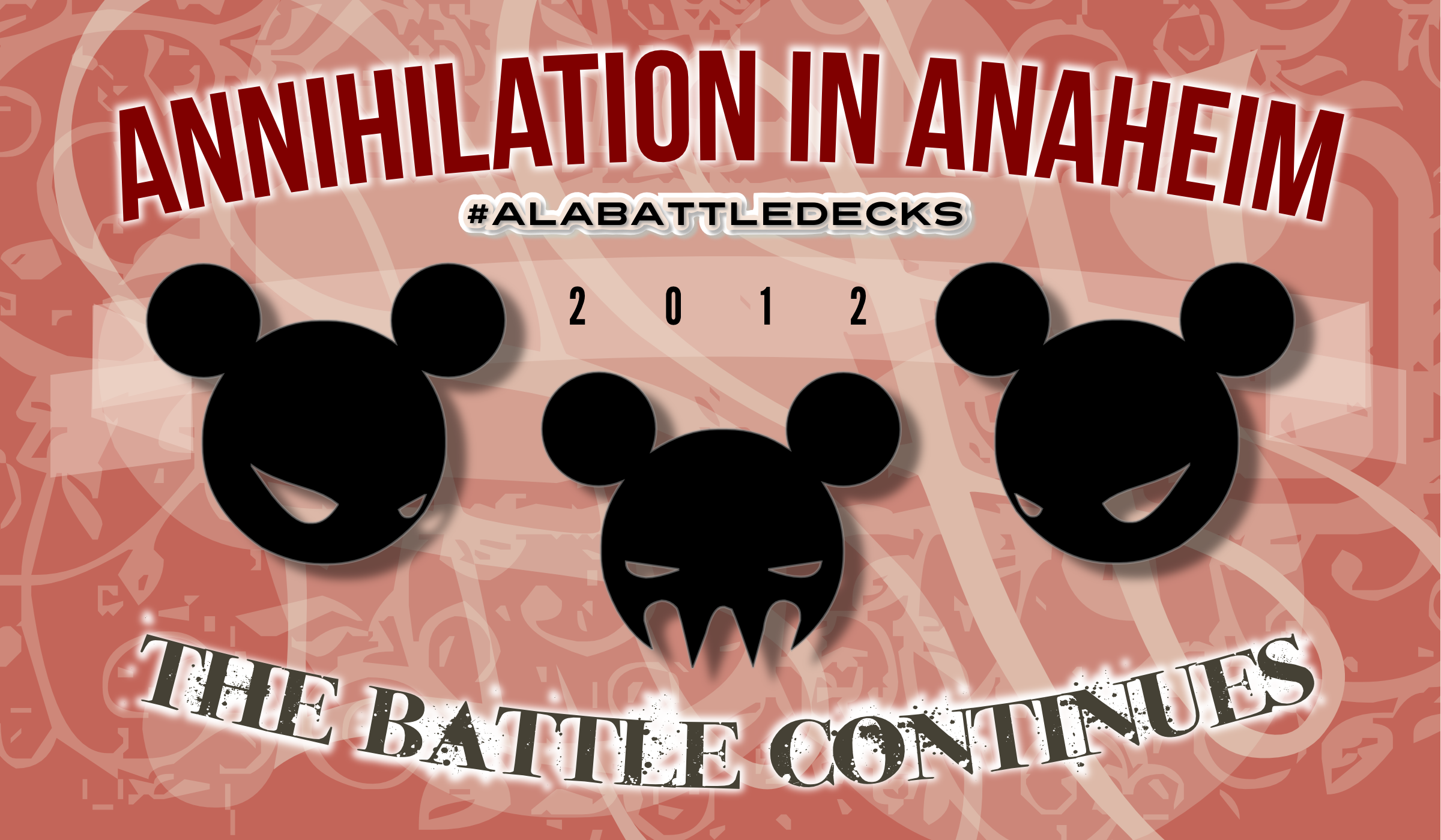 Annihilation in Anaheim, ALA Battledecks 2012 visual branding cc-by lemasney #creativecommons #design #cc-by #libraries