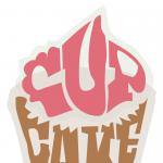 20121203: Cupcake made of text by John LeMasney via 365sketches.org #cc #design #food