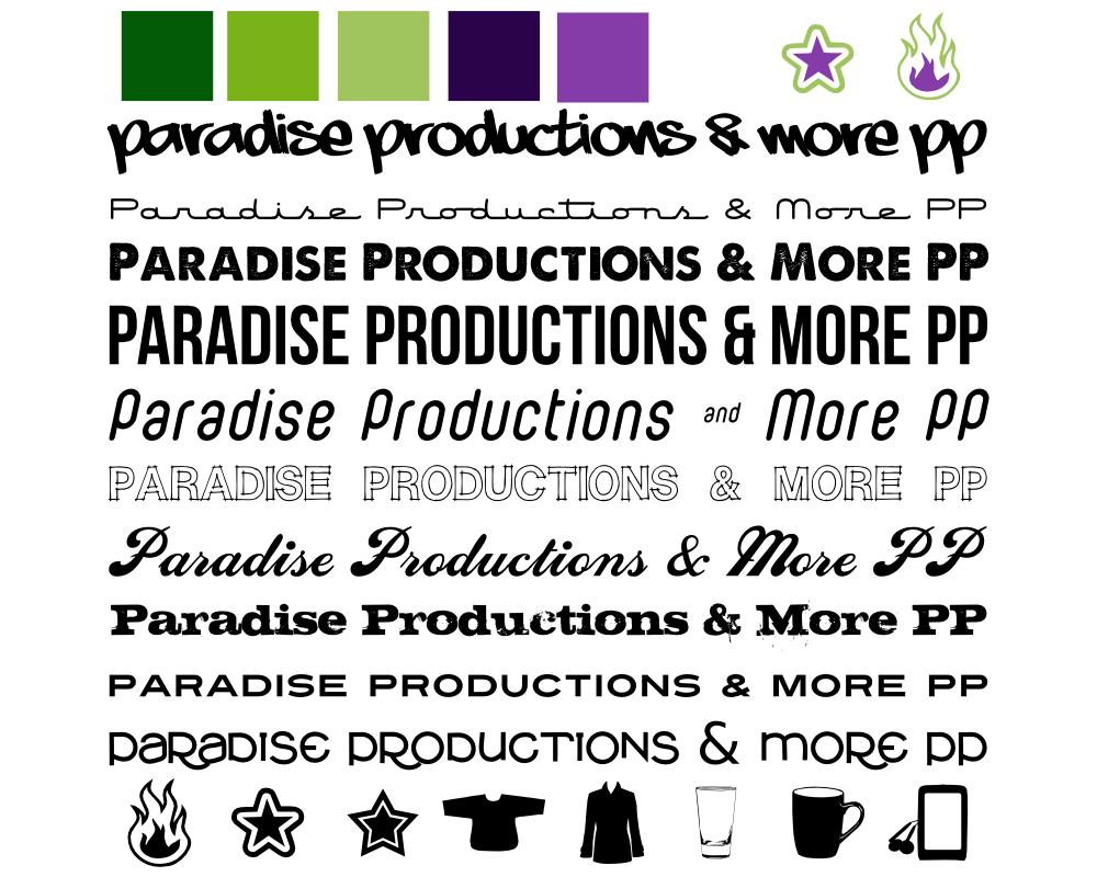 Paradise Productions brand study, revision 0, by John LeMasney via lemasney.com