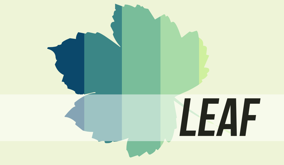 Leaf illustration by John LeMasney via lemasney.com