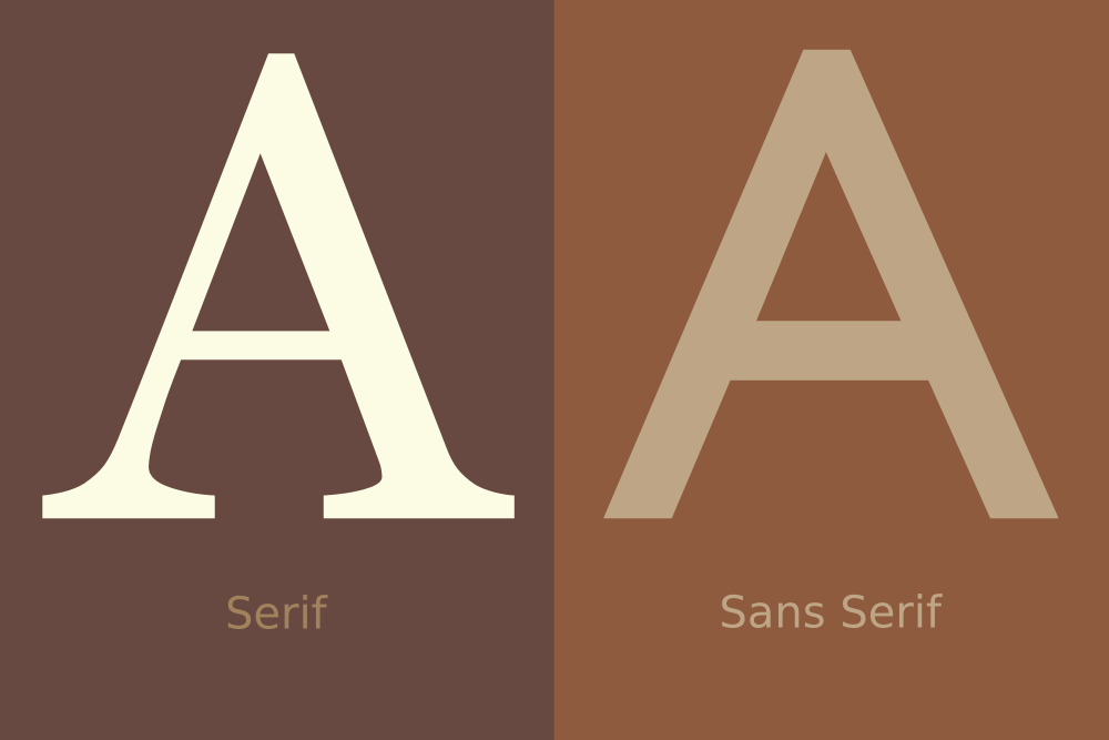 2 of 365 - advance organizer on serif vs sans serif by John LeMasney via lemasney.com