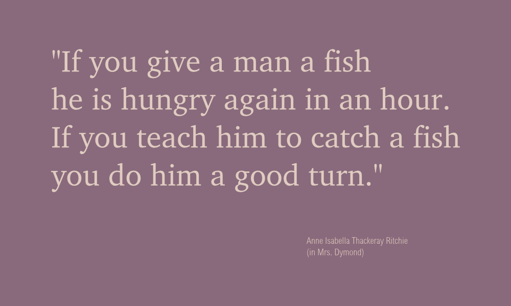 41 of 365  teach a man to fish design principle