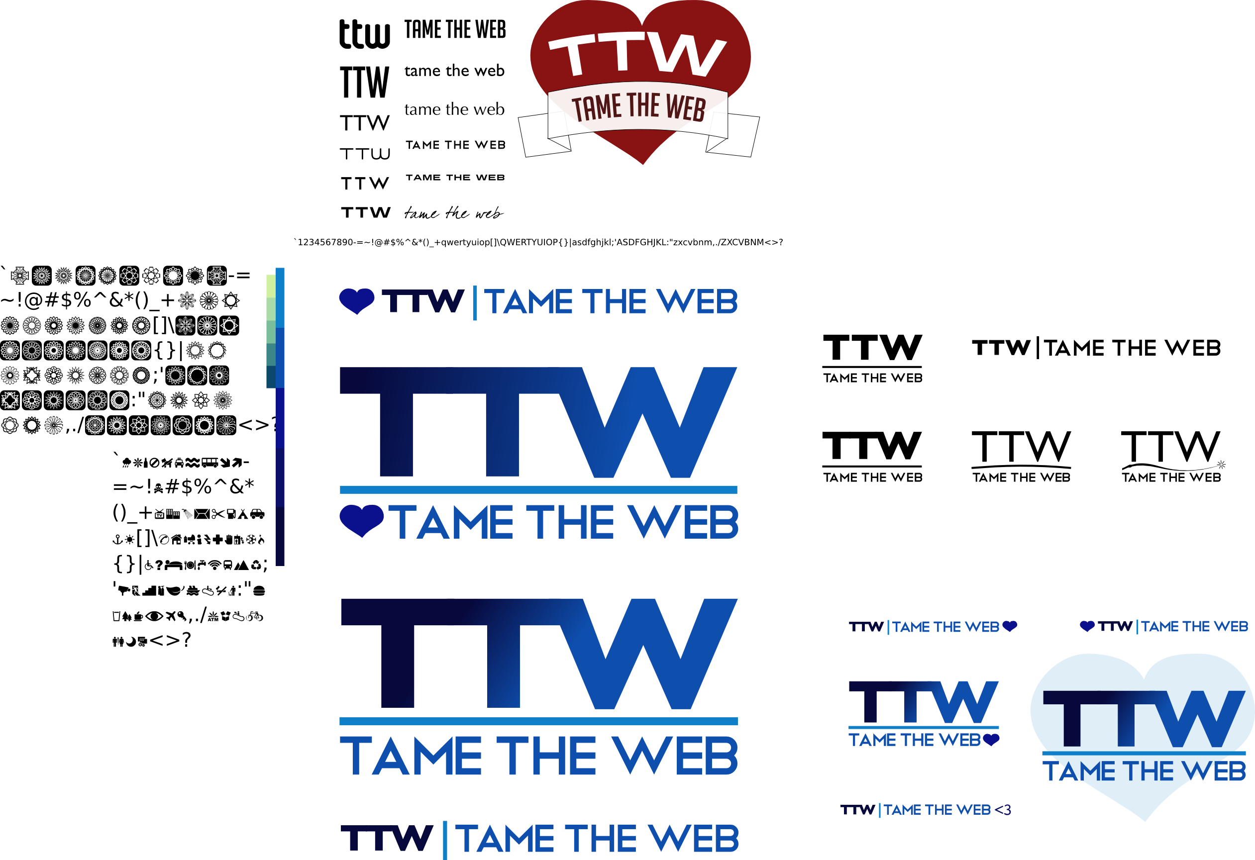 Tame The Web logo workspace by John LeMasney via lemasney.com