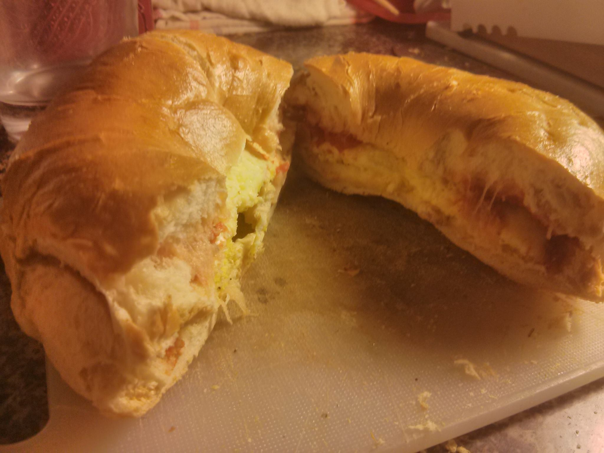 Masala Egg with Cheese on Toasted Bagel by John LeMasney via lemasney.com