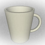 56 of 365: A three dimensional coffee cup in SketchUp