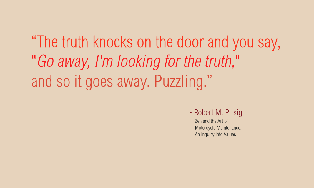 66 of 365 The truth knocks on the door by John LeMasney via lemasney.com