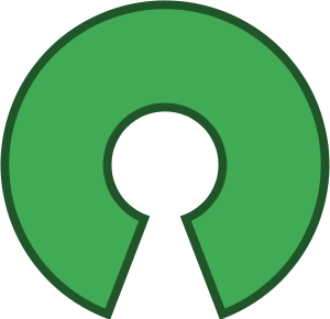The Open Source Initiative keyhole.