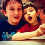 Jack and David at Chuckles Pizza, Lawrenceville, NJ
