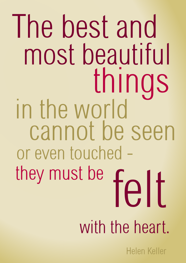the best and most beautiful things in the world by