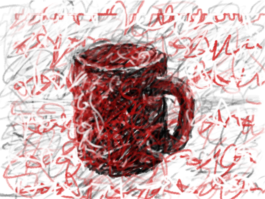 coffee cup drawing by lemasney